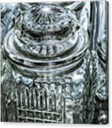 Decorative Glass Jars Canvas Print