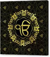 Decorative Gold Ek Onkar / Ik Onkar  Symbol Canvas Print