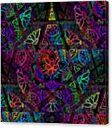 Decorative Pentacle Tiled Pattern Canvas Print