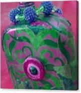 Decorative Pink Bottle Canvas Print