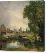 Dedham Lock And Mill Canvas Print