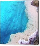 Deep Aqua Pool Of Yellowstone Canvas Print