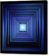 Deep Blue Solstice Canvas Print
