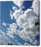 Deep Blue With Lovely Clouds Canvas Print