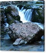 Deep Creek Flowing Between The Rocks Canvas Print
