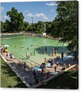 Deep Eddy Pool Is A Family Friendly, Family Fun, Public Swimming Pool In Austin, Texas Canvas Print
