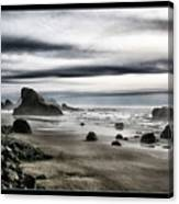Deep Evening At The Beach Canvas Print