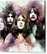 Deep Purple.rock Stars Canvas Print
