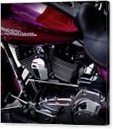 Deep Red Harley Canvas Print
