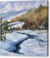 Deep Snow Canvas Print