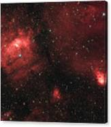 Deep Space Bubble Nebula Ngc 7635 In Constellation Cassiopeia Canvas Print