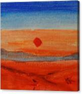 Deep Sunset Canvas Print