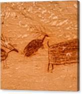 Deer And Bison Pictograph - Horseshoe Canyon - Utah Canvas Print