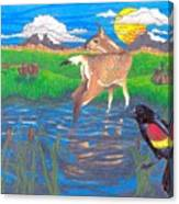 Deer Blessing Canvas Print