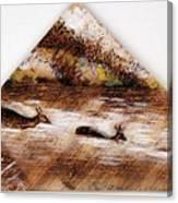 Deer Crossing One Canvas Print