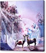 Deer Enchantment Canvas Print