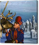 Deer Friends Of Finland Canvas Print