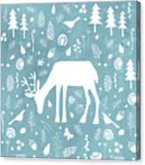 Deer In The Woods Canvas Print