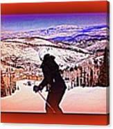 Deer Valley Utah Powder Canvas Print