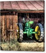 Deere In The Barn Canvas Print