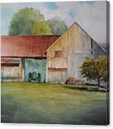 Deere On The Farm Canvas Print