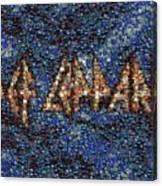 Def Leppard Albums Mosaic Canvas Print