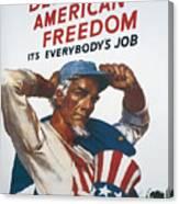 Defend American Freedom Canvas Print