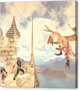 Defending The Castle Canvas Print