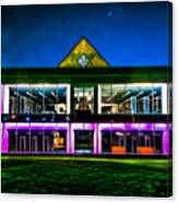 Defiance College Library Night View Canvas Print