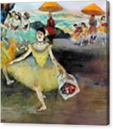Degas: Dancer, 1878 Canvas Print