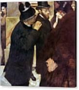 Degas: Stock Exchange Canvas Print