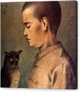 Degouve: Child & Owl, 1892 Canvas Print