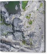 Degraded Landscape Old Coal Mine In South Of Poland. Canvas Print