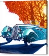 Delahaye 135 M Roadster Canvas Print