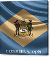 Delaware State Flag Canvas Print