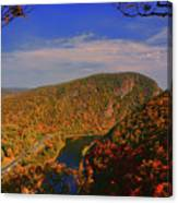 Delaware Water Gap In The Fall Canvas Print