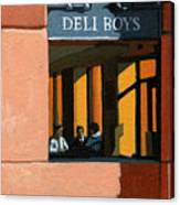 Deli Boys - Cafe Canvas Print
