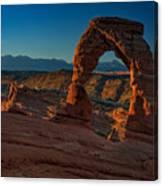 Delicate Arch At Sunrise Canvas Print
