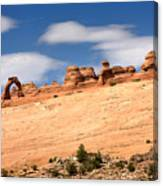 Delicate Arch Famous Landmark In Arches National Park Utah Canvas Print
