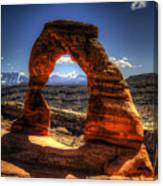 Delicate Arch Framing La Sal Mountains Canvas Print