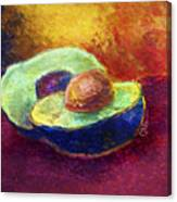 Delicious, A Buttery Avocado Canvas Print