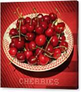 Delicious Cherries Canvas Print