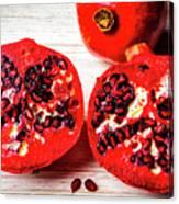 Delicious Pomegranate Canvas Print