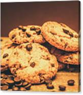 Delicious Sweet Baked Biscuits  Canvas Print