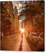 Delivery Man Canvas Print