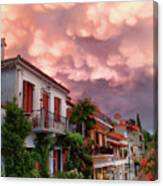Delphi Greece Sunset Canvas Print