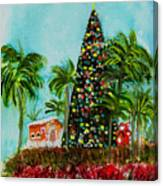 Delray Beach Christmas Tree Canvas Print