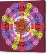 Deluxe Tribute To Tuko - Maroon Background Canvas Print