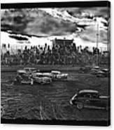 Demolition Derby Rain Storm Clouds #1 Tucson Arizona 1968 Canvas Print