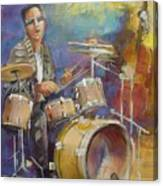 Demon Drummer Canvas Print